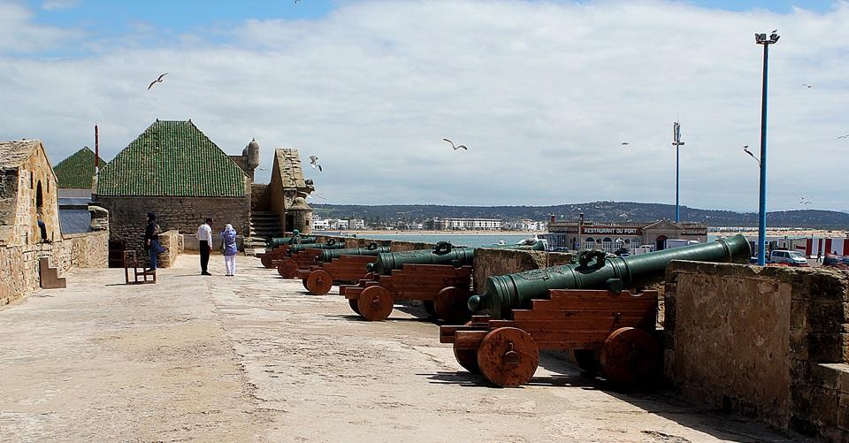 Canhões do antigo forte português em Essaouira