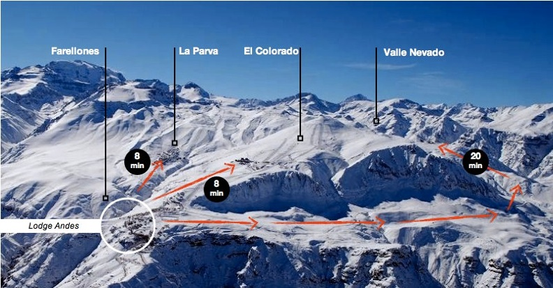 Localização do Hostel Lodge Andes