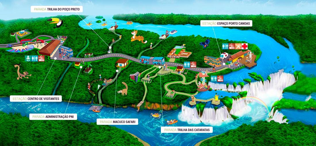 mapa_parque_cataratas_iguacu_brasil