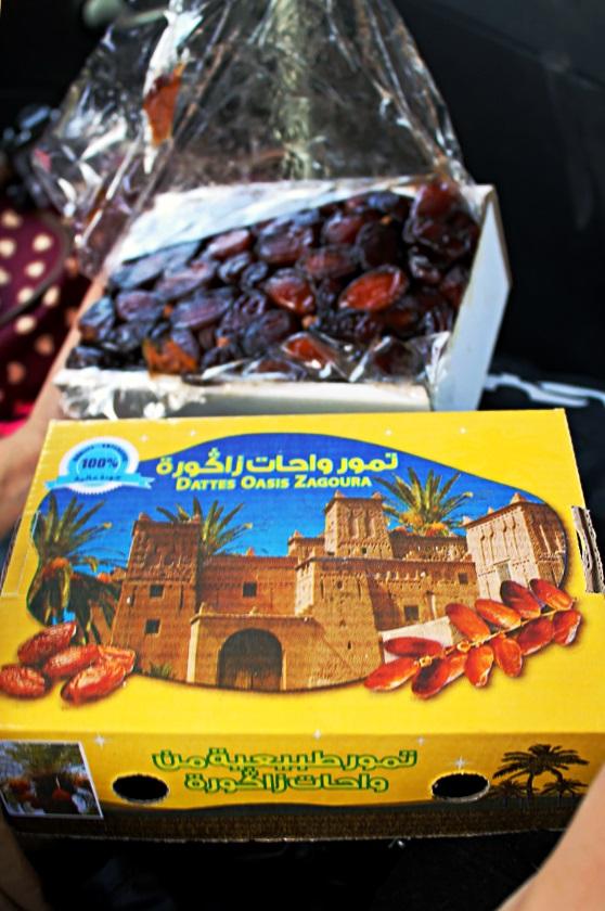 Caixa de tâmaras do Marrocos