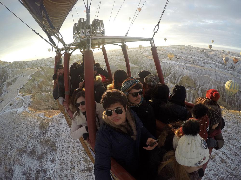 Turquia – Como é voar de balão na Capadócia no inverno