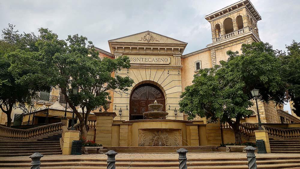 Fachada do cassino Montecasino em Joanesburgo.