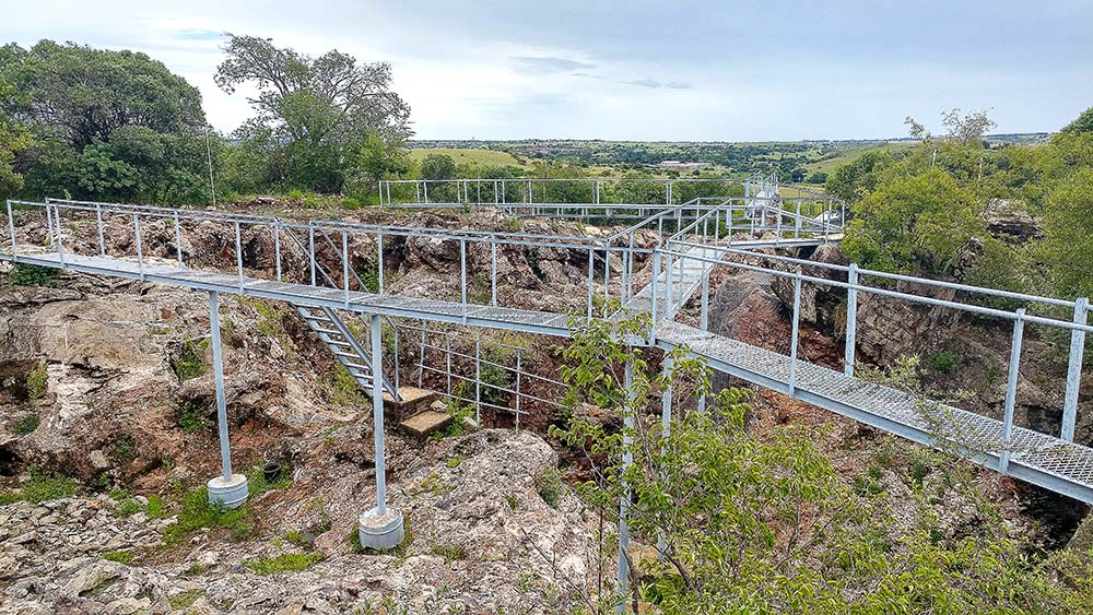 Área de estudos do sítio arqueológico de Sterkfontein Caves