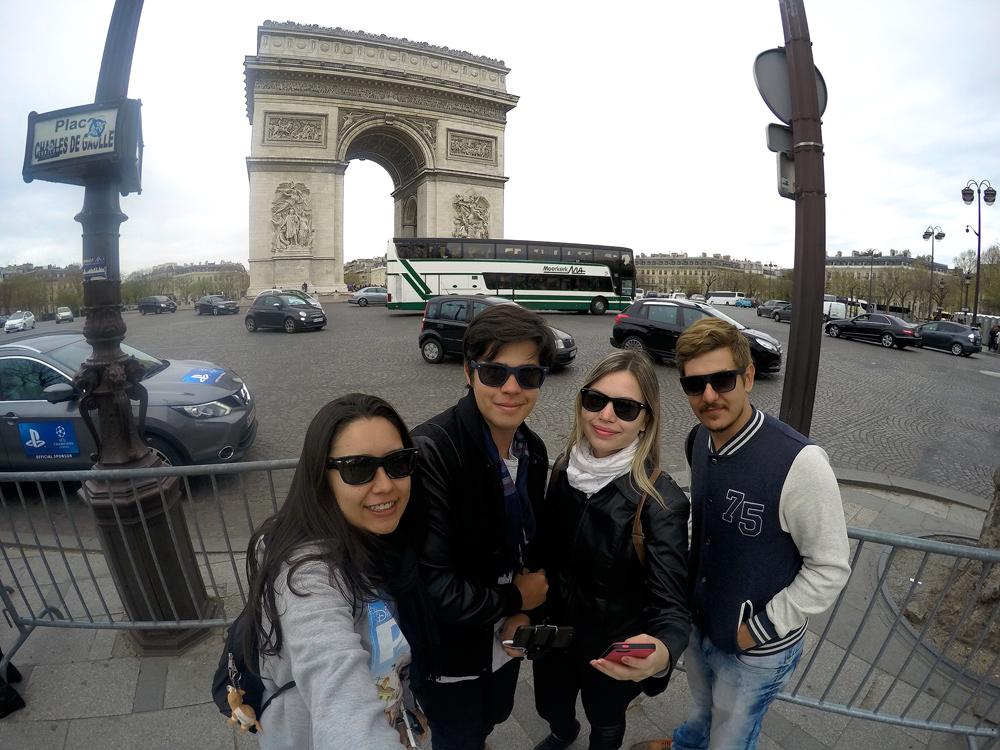 O famoso Arco do Triunfo!