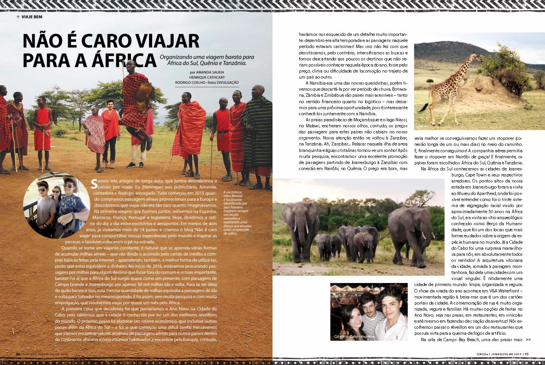 Não é caro viajar para a África [Revista CINCO+]