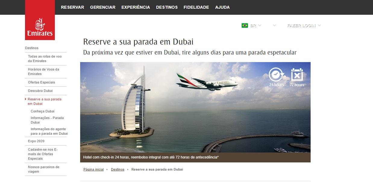 Stopover gratuito pela Emirates em Dubai