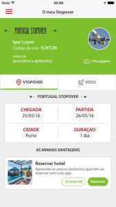 Aplicativo TAP Stopover para IOS e Android