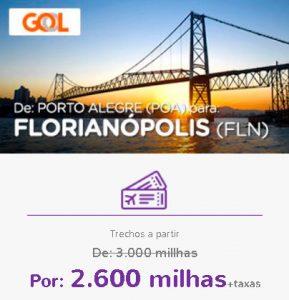 Promoção Smiles Superdestinos - Porto Alegre para Florianópolis
