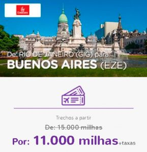 Promoção Smiles Superdestinos - Rio de Janeiro para Buenos Aires