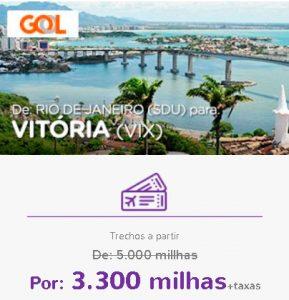 Promoção Smiles Superdestinos - Rio de Janeiro para Vitória