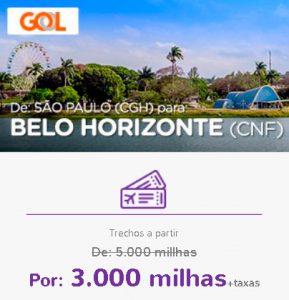 Promoção Smiles Superdestinos - São Paulo para Belo Horizonte