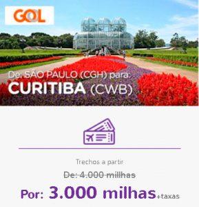 Promoção Smiles Superdestinos - São Paulo para Curitiba