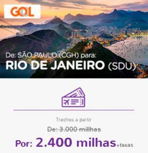 Promoção Smiles Superdestinos - São Paulo para Rio de Janeiro