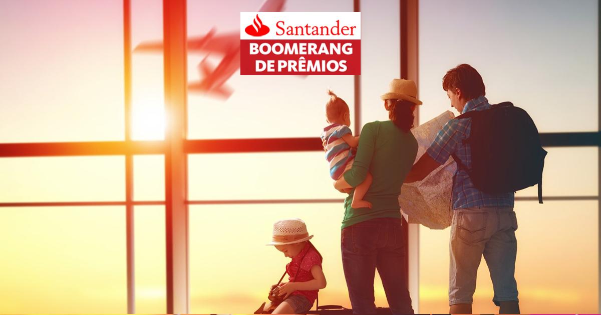 Boomerang de prêmios Santander: Até o triplo de milhas!