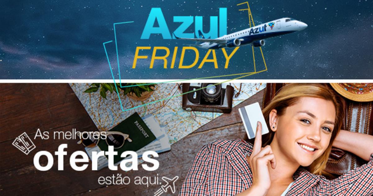Promoção TudoAzul: Ganhe até 20 pontos por real na Azul Friday
