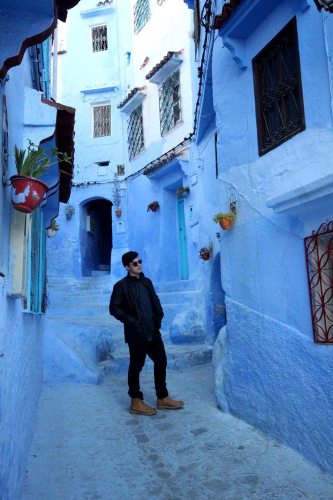 Medina de Chefchaouen, azul e branca