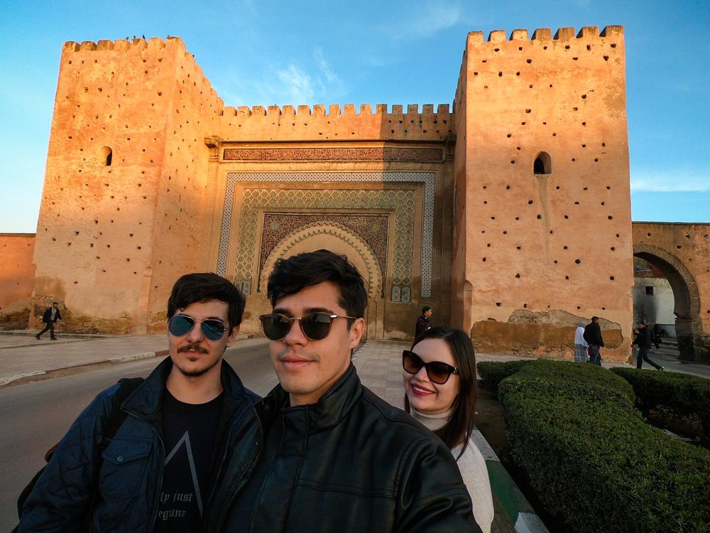 Principal portão de acesso a medina de Meknès
