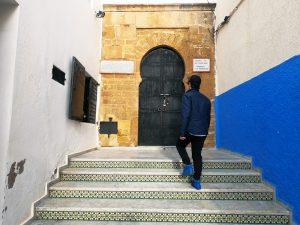 Porta de uma das casas no Kasbah de Rabat