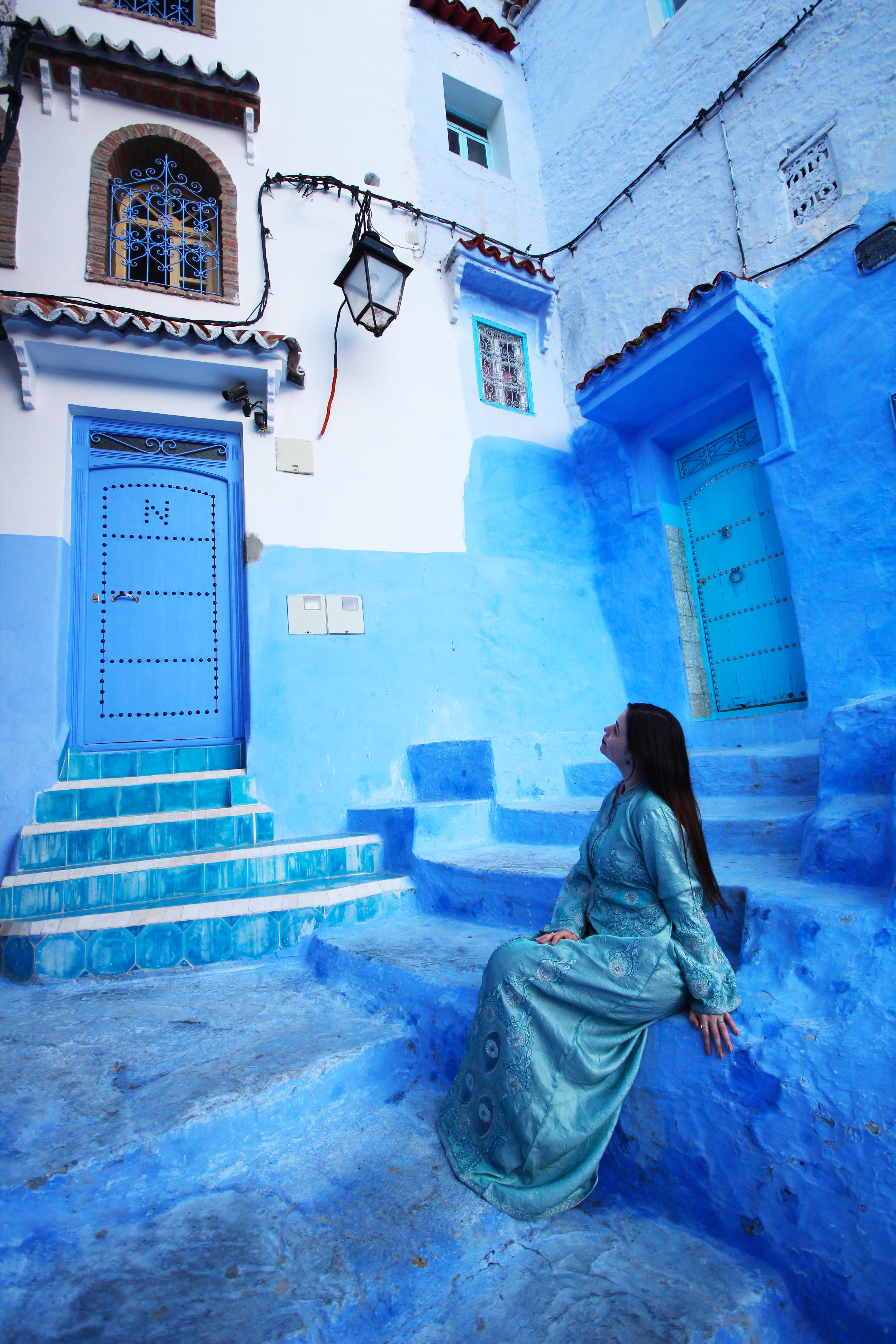 Chefchaouen, a cidade azul do Marrocos.