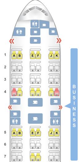 Layout executiva 777-300ER