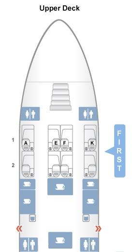 Layout do A380-300 primeira Classe Qatar Airways