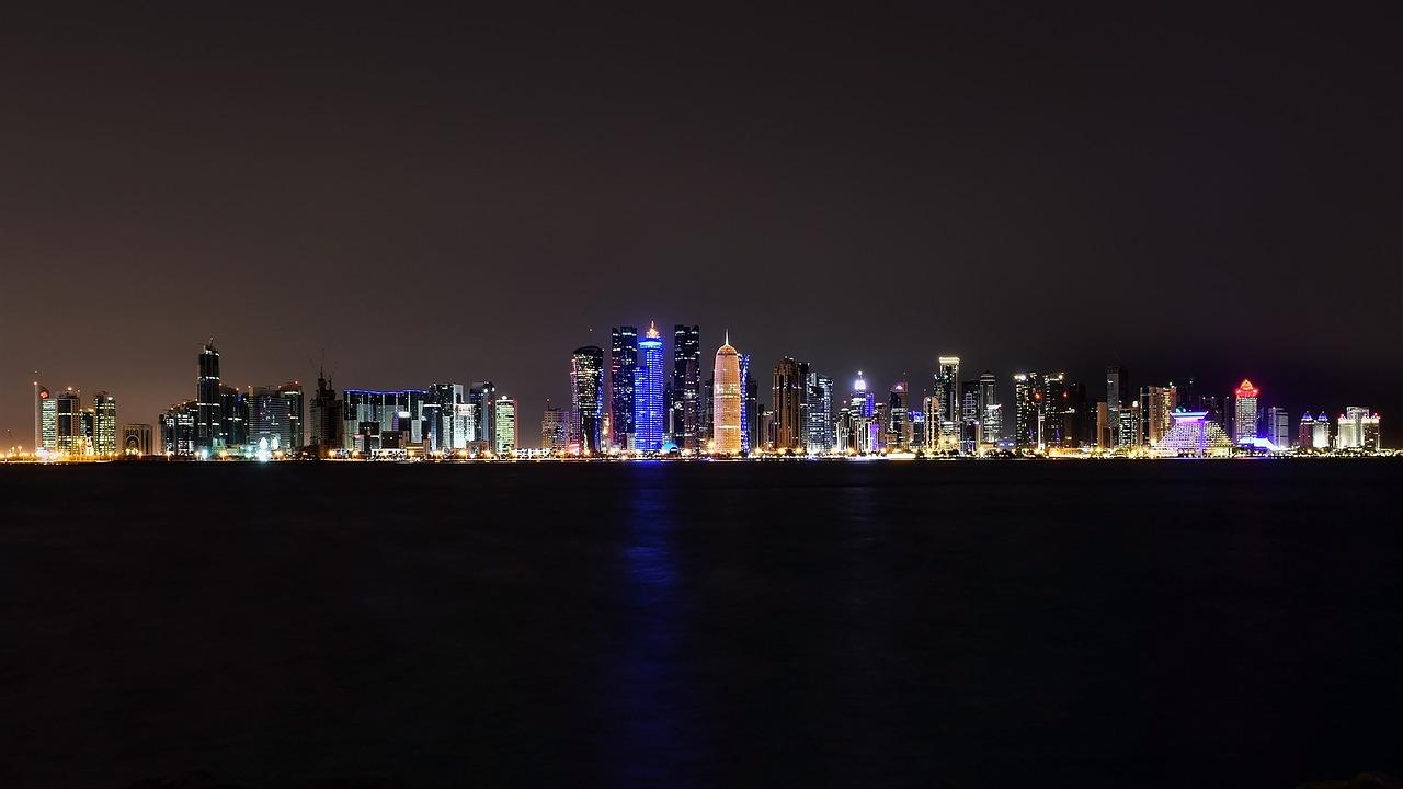 Cidade de Doha a noite