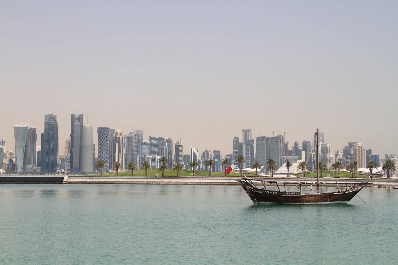 Golfo Pérsico Doha no Qatar