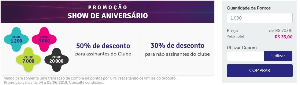 Promoção Livelo compra de pontos com 50% de desconto