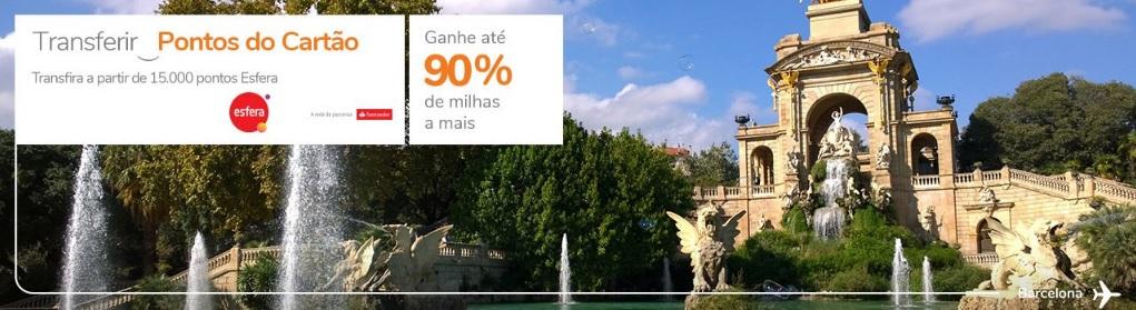 Bônus 90% Smiles e Esfera Santander