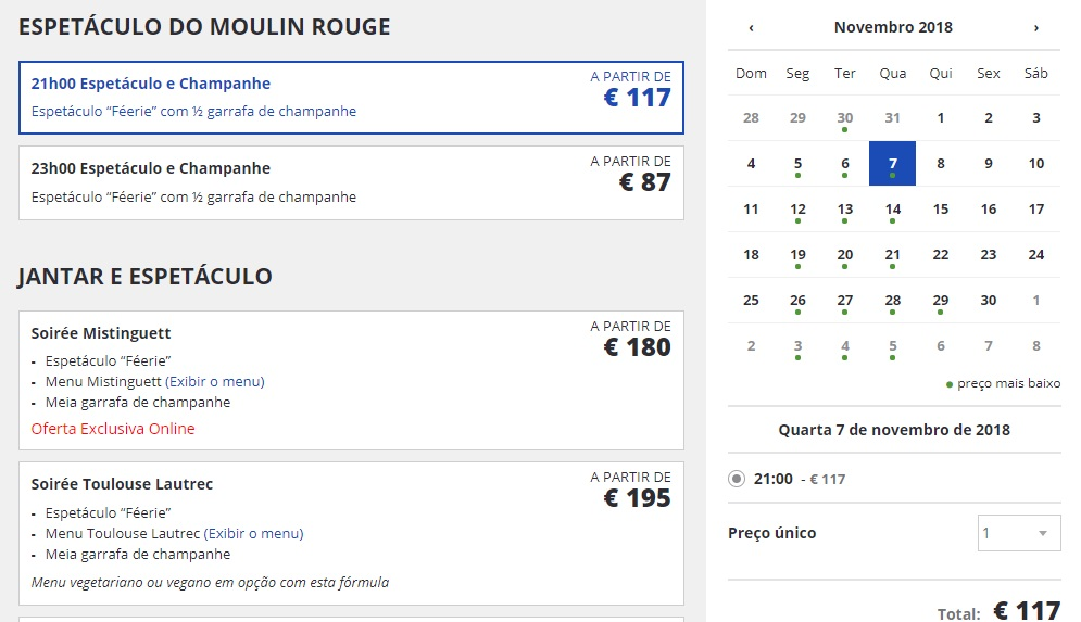 Reserva Come to Paris para Moulin Rouge. Site Oficial.
