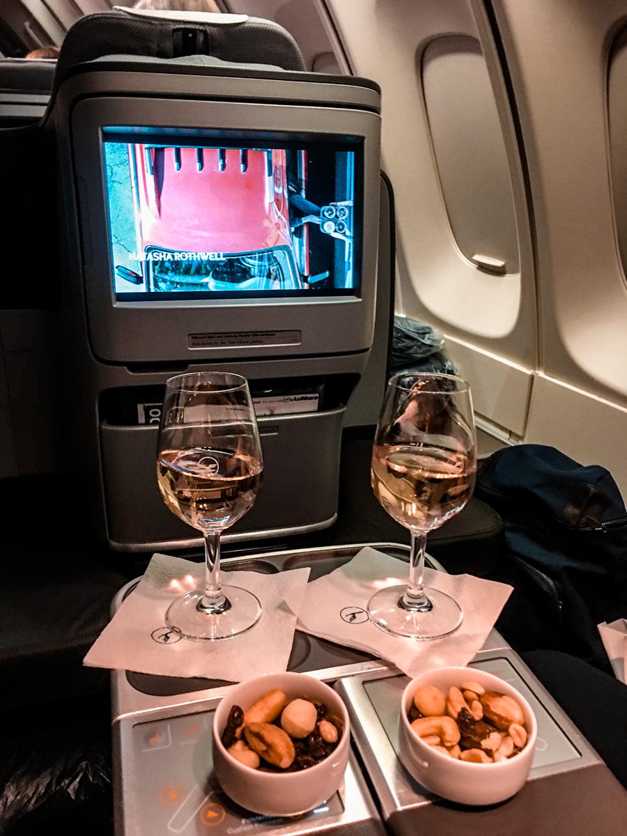 Classe executiva Lufthansa B747-400 - Rio/Frankfurt