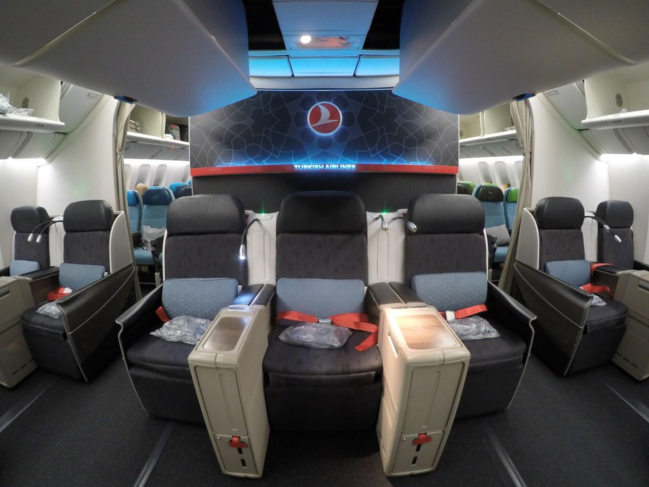 Como é voar na Classe executiva da Turkish no B777-300ER – São Paulo para Istambul
