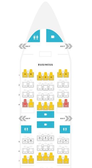 Classe executiva Turkish Airlines 777-300ER