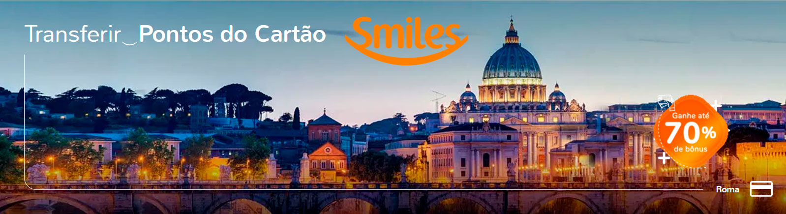 Smiles: transfira os pontos do cartão e ganhe até 70% de bonus!