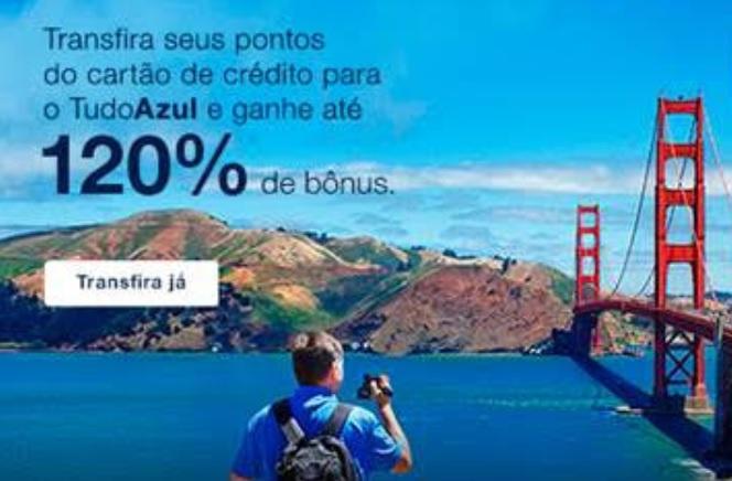 Promoção: Ganhe até 120% de milhas bônus no TudoAzul