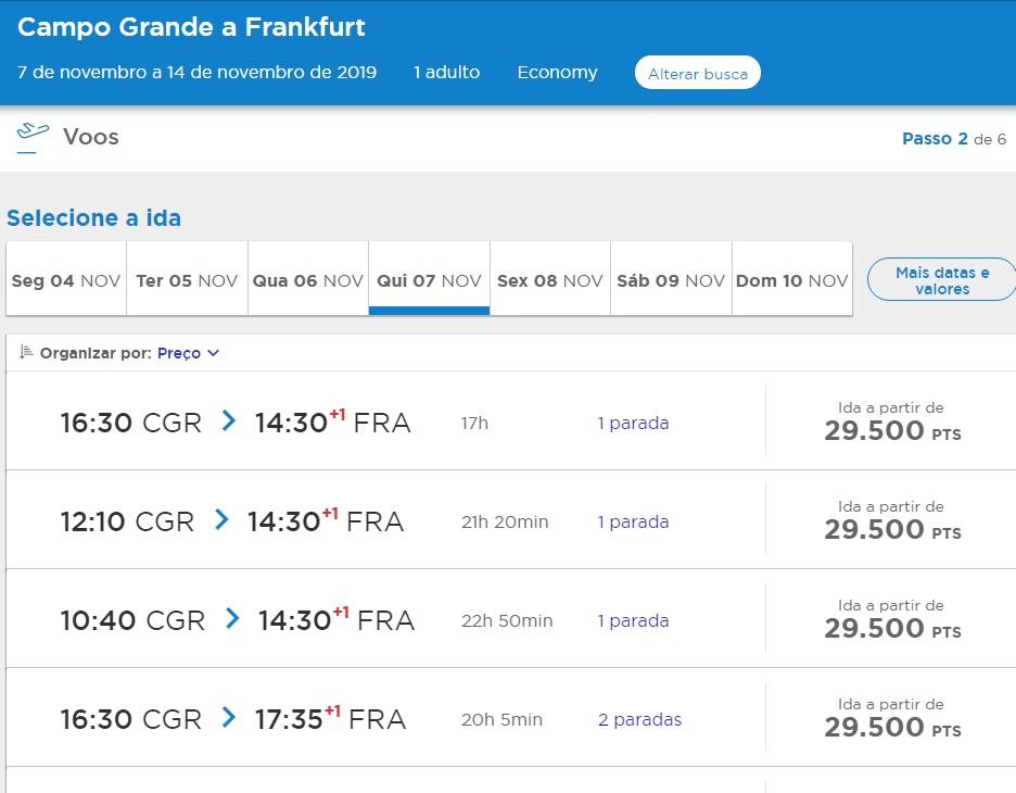 Promoção para Frankfurt partindo de Campo Grande/MS