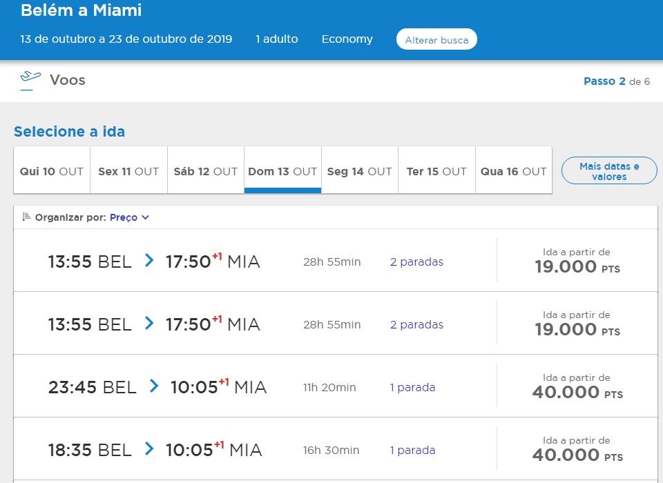 Promoção para Miami partindo de Belém