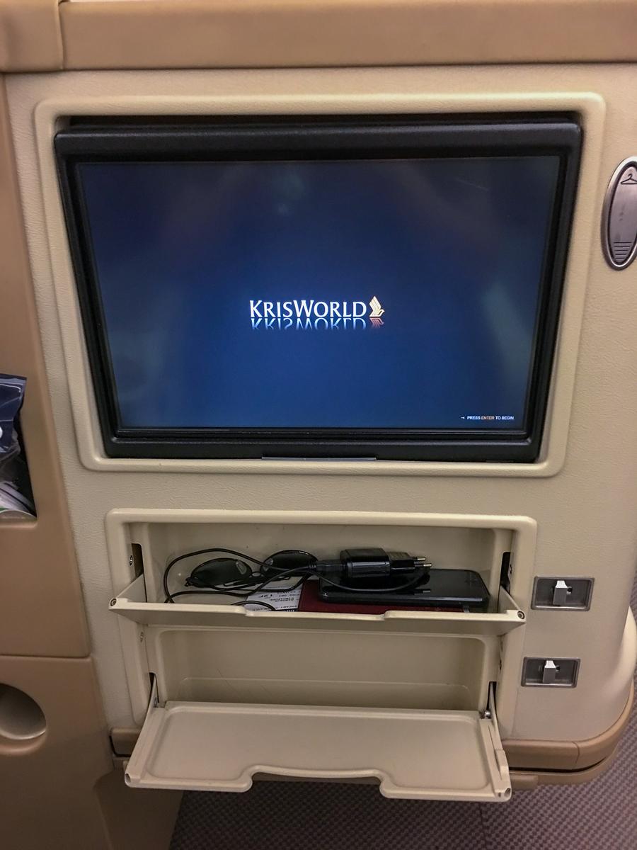 Classe executiva A330-300 Singapore Airlines - Bangkok para Singapura