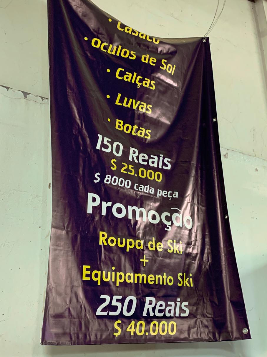 Preço de aluguel de equipamentos de esqui em Santiago