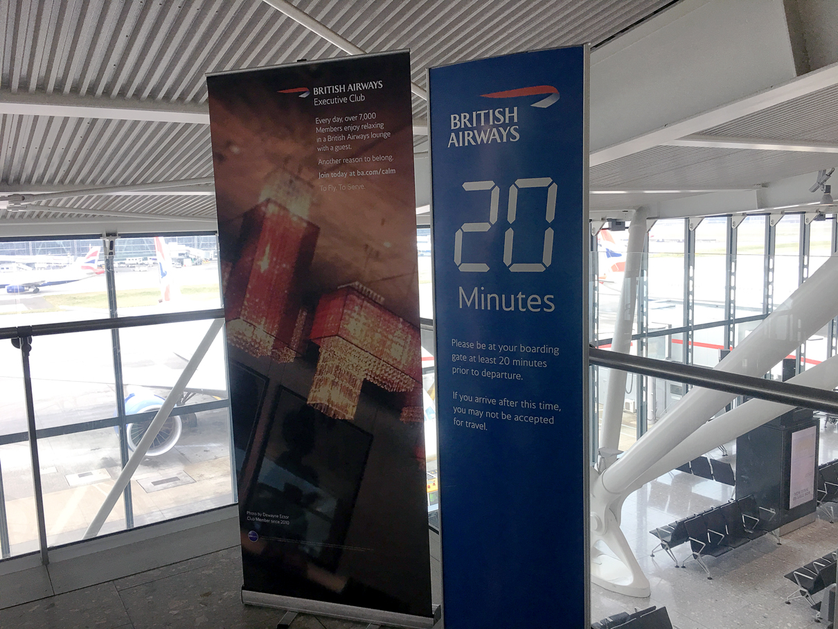 Sala VIP British Airways aeroporto de Heathrow em Londres