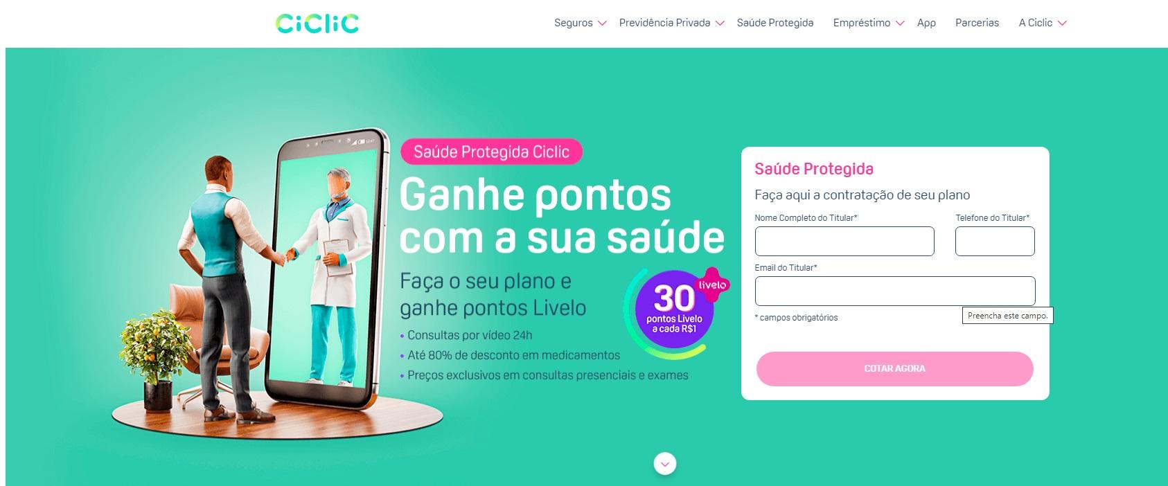 Promoção Livelo e Ciclic
